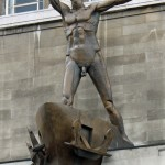 Liverpool Resurgent - Statue on Lewis' Building