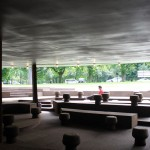 Serpentine Pavilion 2012 from inside looking to front