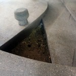 Serpentine Pavilion 2012 hole in floor exposing ground underneath