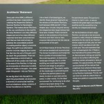 Serpentine Pavilion 2012 sign describing the project (1)