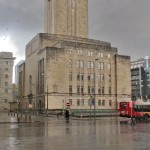 Queensway Tunnel Ventilation shaft in rain