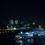 Canary Wharf at Night from Tower Bridge