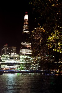 The Shard from across the Thames at Night