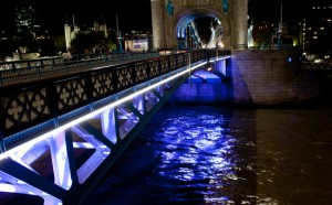 Under Tower Bridge at Night