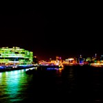 Thames from Tower Bridge at Night with colour intensified
