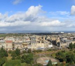 Edinburgh Panorama September 2015 Princes Street from Edinburgh Castle