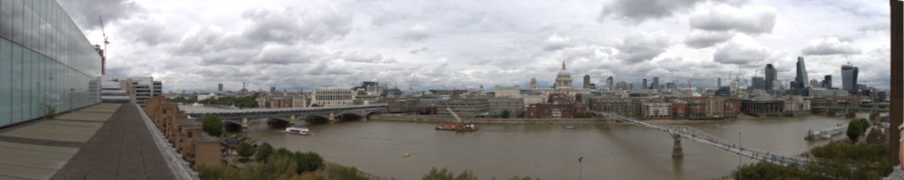 View across the Thames from Tate Modern Member's Room July 2014