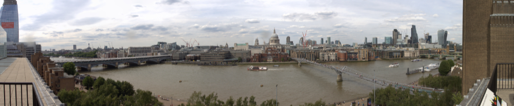 View across the Thames from Tate Modern Member's Bar July 2017