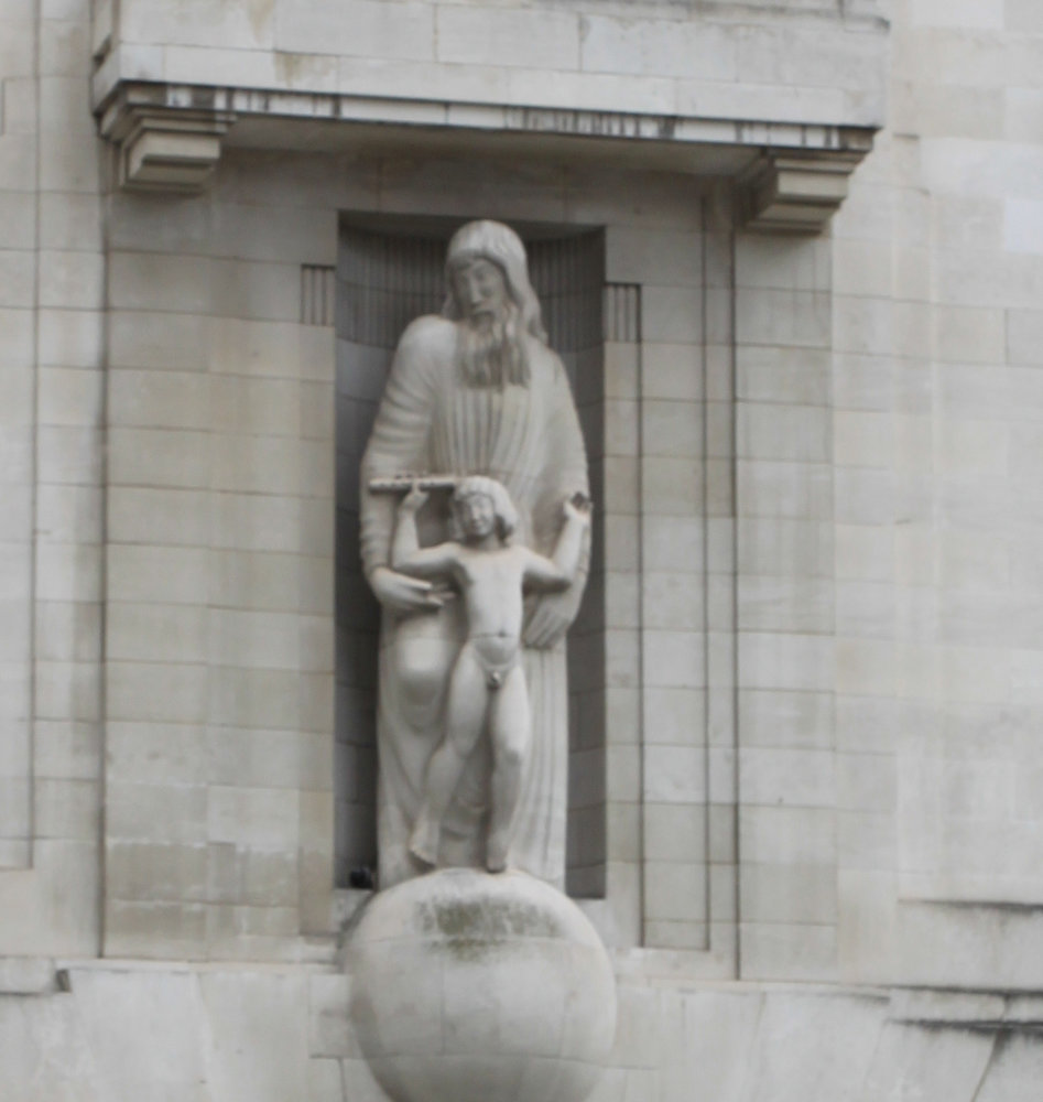 BBC Broadcasting House statue 2016