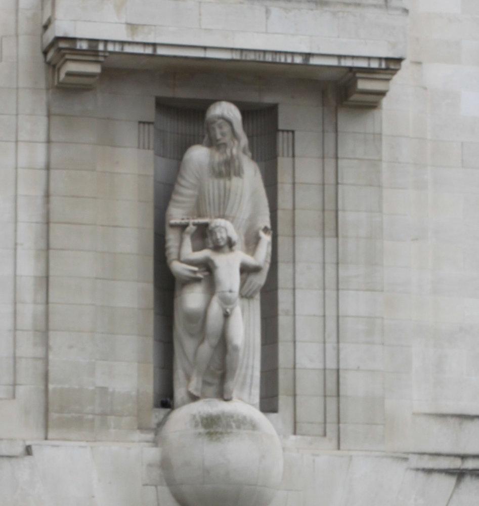 BBC Broadcasting House statue 2016