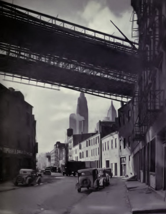 Front Street New York in late 1930s from FWP Guide to New York