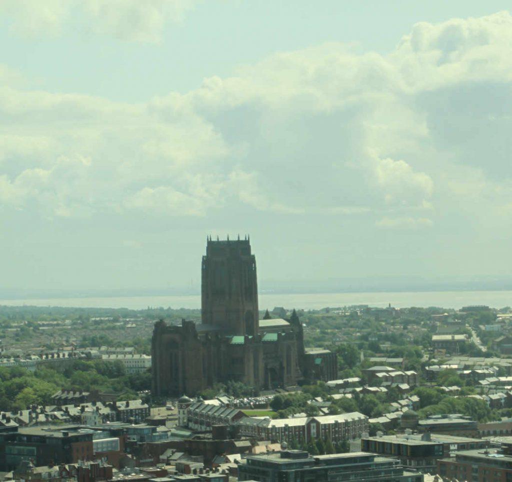 Liverpool's Anglican Cathedral from St John's Beacon